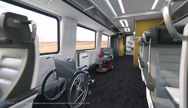 VIA Rail Photo Train Interior Accessability (Groupe CNW/VIA Rail Canada Inc.)