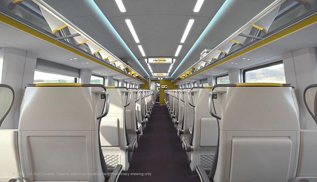 VIA Rail Photo Train Interior Economy (Groupe CNW/VIA Rail Canada Inc.)