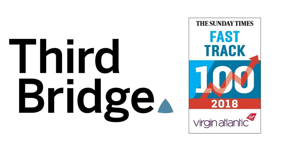 Third Bridge has been included in the Sunday Times Fast Track 100 ranking for the third consecutive year (PRNewsfoto/Third Bridge)