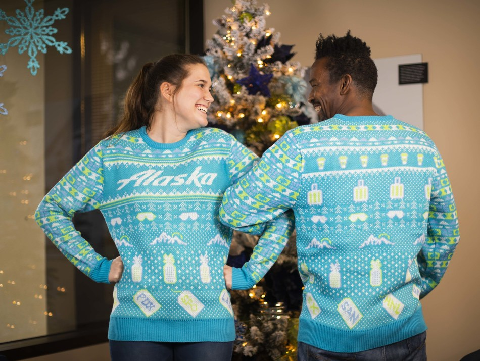 Alaska Airlines offers early boarding on Dec. 21 for guests wearing holiday sweaters.