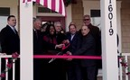 James Schenck, President/CEO, PenFed Credit Union and CEO, PenFed Foundation (center) cuts the ribbon for the PenFed Foundation Home to Serve Our Willing Warriors grand opening with Shirley Dominick (left of center) and John Dominick (right of center), Co-Founders of Serve Our Willing Warriors.