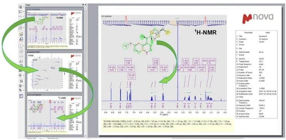 Mestrelab Mnova NMR user interface