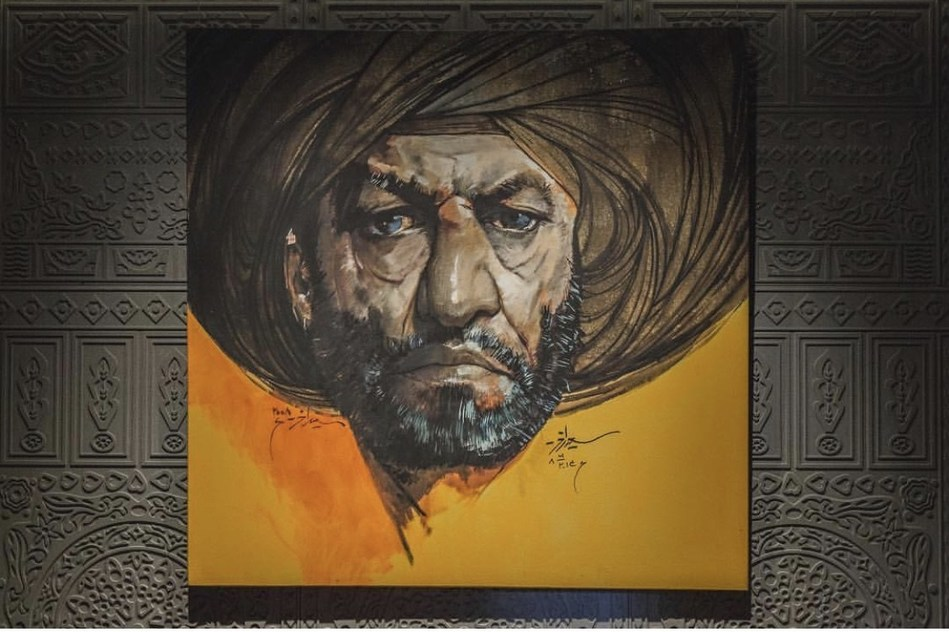 UNTITLED by Saeed Akhtar, oil on canvas
