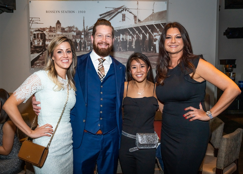 Zerin Business Consulting's fourth-annual casino night fundraiser raised more than $12,500 for two international children's charities. (L to R) Joining hosts Adrienne and Mark Hoge, and event team lead Amanda Tram, was special guest Vera Quinn, Director of Liberty Children's Home.