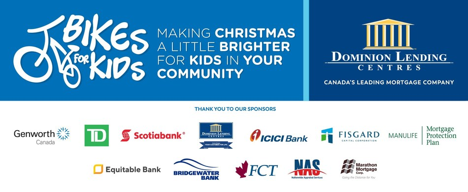 Bikes for Kids: Making Christmas a Little Brighter for Kids in Your Community (CNW Group/Dominion Lending Centres)