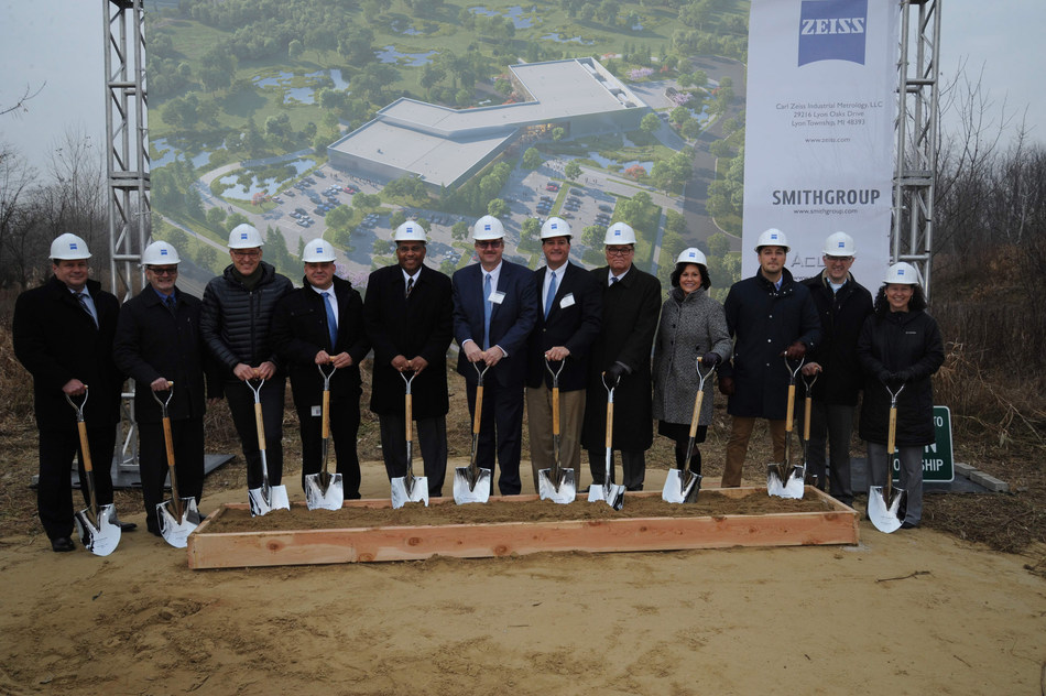 ZEISS groundbreaking event for new state-of-the-art facility in Detroit metro area
