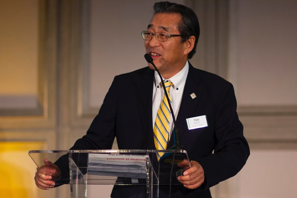 Yukinori Nishio, EVP and Head of the Pacific Rim Division at Bank of the West, speaks at the 24th Annual Pacific Rim Client Appreciation Dinner.