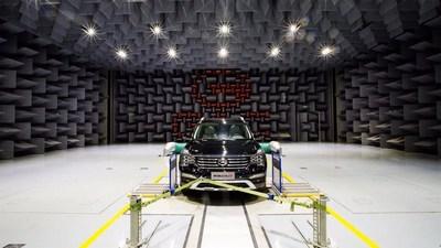 O GS8 da GAC Motor passando pelo teste de ruído, vibração e aspereza (NVH) (PRNewsfoto/GAC Motor)