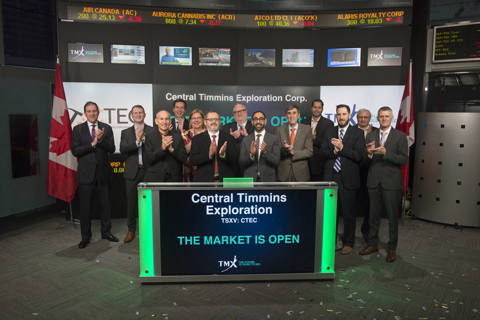 Central Timmins Exploration Corp. Opens the Market (CNW Group/TMX Group Limited)