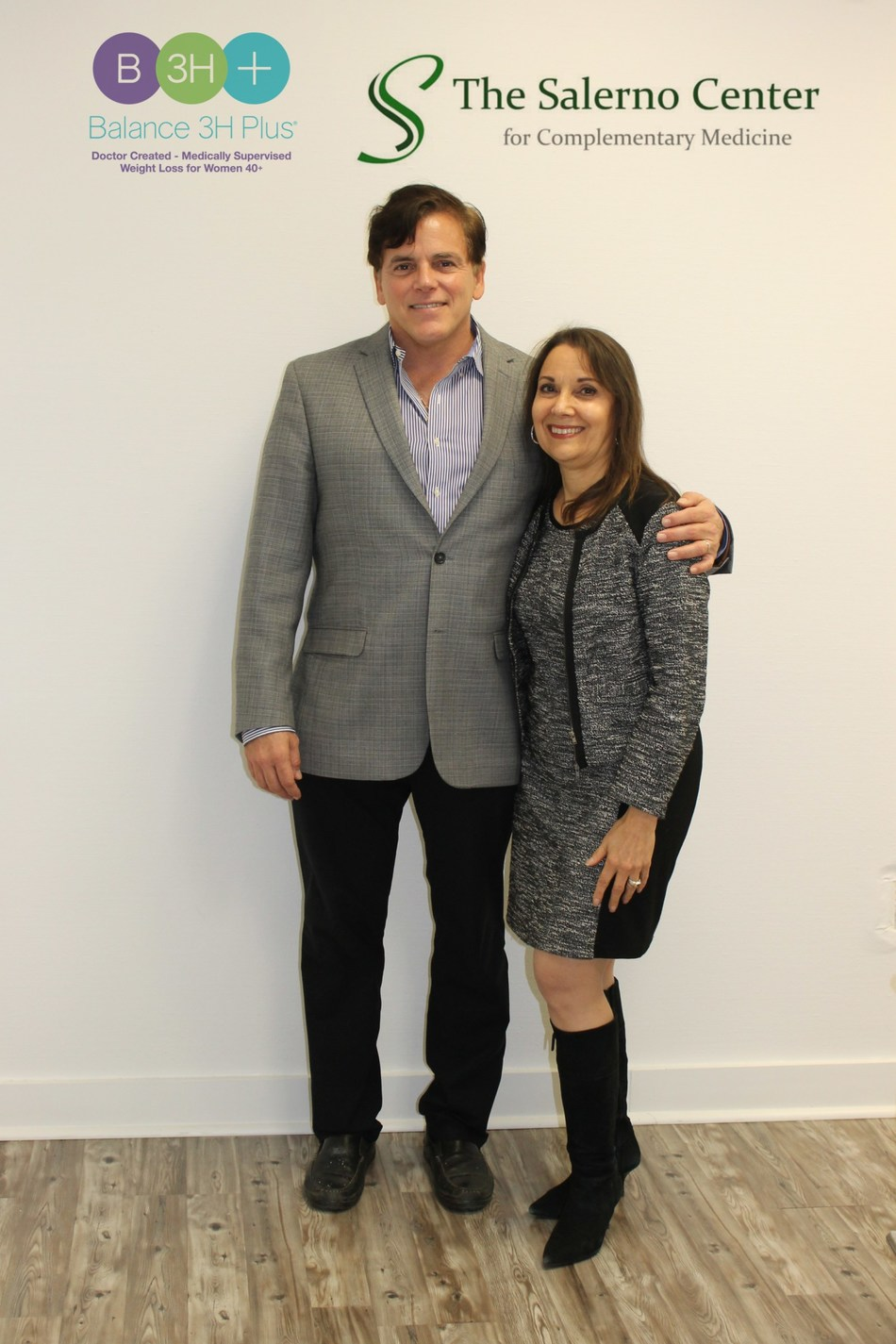 Dr. John Salerno, founder, The Salerno Center with Angela T. Russo, a functional nutritionist and Balance 3H Plus weight loss expert.