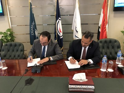 (From right) Ali Vezvaei, President & CEO of Bilfinger Middle East and Eng. Mohamed Shimy, Chairman of EMC sign the MOU (PRNewsfoto/Bilfinger)