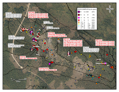 Notches Trench Area Map (CNW Group/Aurion Resources Ltd.)