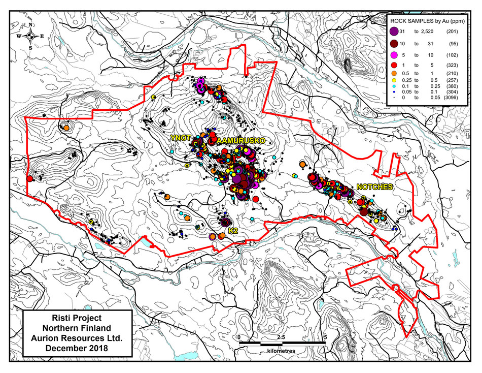 Risti Project Area Map (CNW Group/Aurion Resources Ltd.)