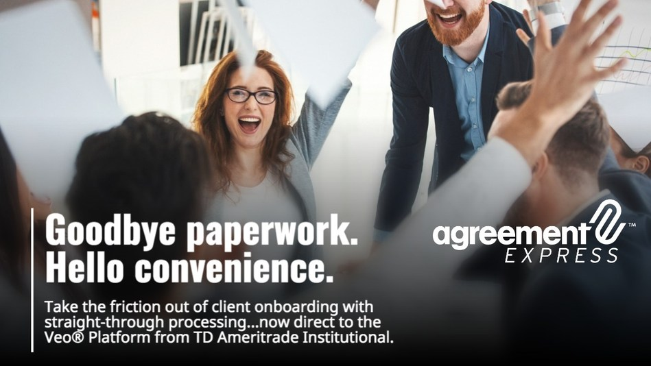 Agreement Express and TD Ameritrade Institutional Deliver Straight-Through Account Opening to Veo Platform (CNW Group/Agreement Express)