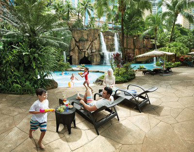 Fun by the poolside at Sunway Resort Hotel & Spa