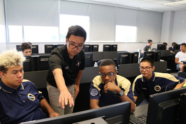 Students competing at the California Mayors Cyber Cup 2018