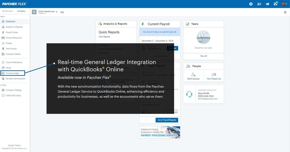Paychex Introduces Simple and Easy-to-Use QuickBooks® Online