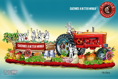 Chipotle Mexican Grill's 'Cultivate A Better World' Rose Parade float.