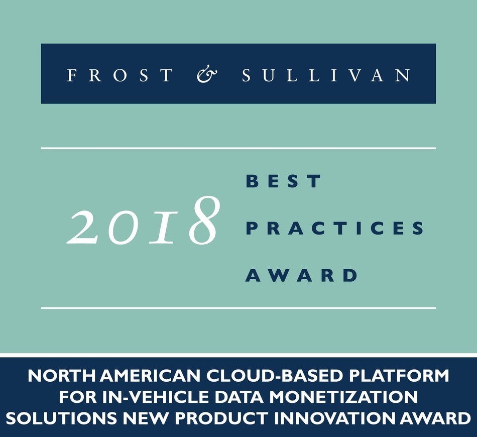 2018 North American Cloud-Based Platform for In-Vehicle Data Monetization Solutions New Product Innovation Award