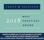 2018 North American Cloud-Based Platform for In-Vehicle Data Monetization Solutions New Product Innovation Award (PRNewsfoto/Frost & Sullivan)