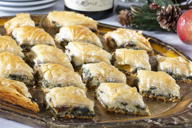 Whether it's for a holiday party, New Year's Eve get-together or just because, these creamy-dreamy savory Mediterranean Stuffed Phyllo Crisps are always a hit. Visit EasyHomeMeals.com for terrific Holiday recipes!