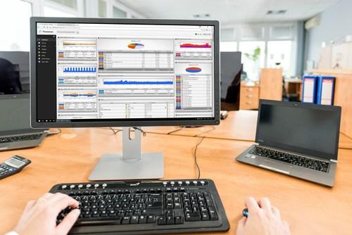 The dashboard of the Flowmon solution (PRNewsfoto/Flowmon Networks)