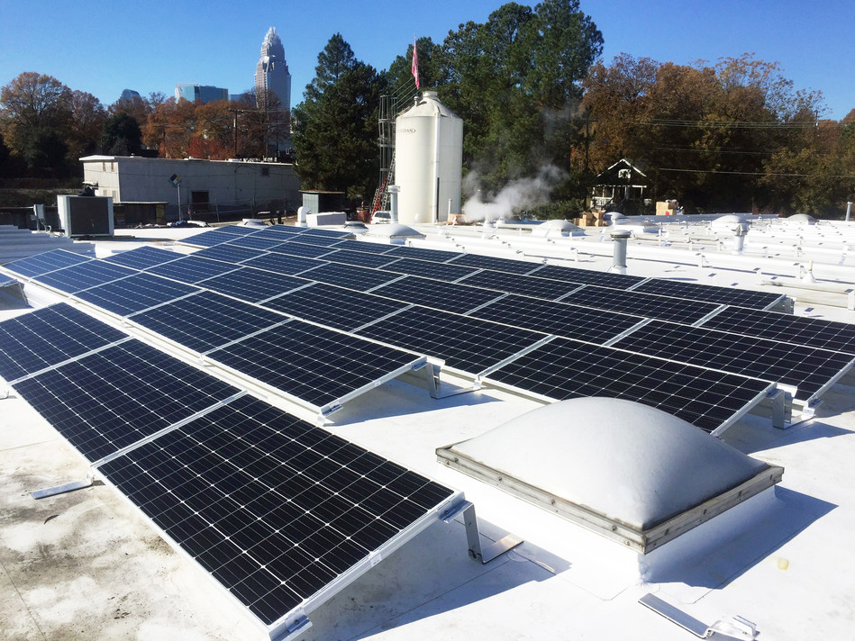 Thanks to a solar rebate from Duke Energy, Birdsong Brewery in Charlotte, N.C., was able to become the first brewery in the city to install a rooftop solar array.