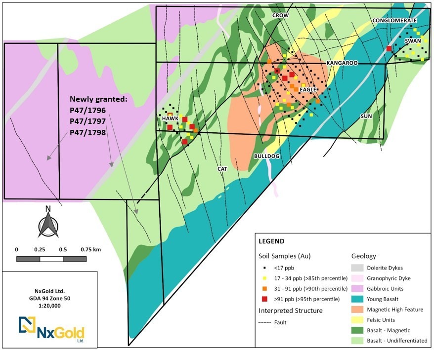 Figure 1: Gridded Soil Results from Mt Roe (CNW Group/NxGold Ltd.)