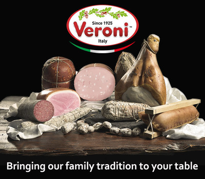 Veroni is an Italian company that offers genuine Italian-made products to the USA including Prosciutto, Salami, Mortadella and other fresh, cured meats. (PRNewsfoto/Veroni Salumi)