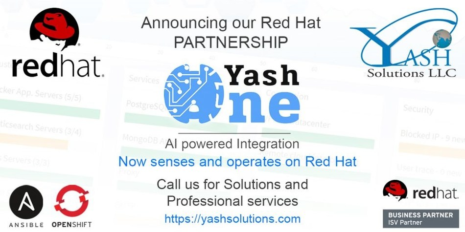 Yash Solutions announces Red Hat as a Technology Partner.