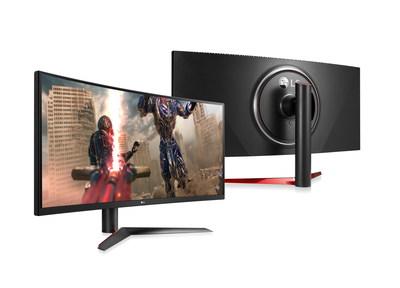 Le moniteur UltraGear a été conçu pour plaire aux amateurs de jeux vidéo grâce à son rapport hauteur/largeur de 21:9, à son écran incurvé et à son cadre pratiquement sans bordure. (Groupe CNW/LG Electronics, Inc.)