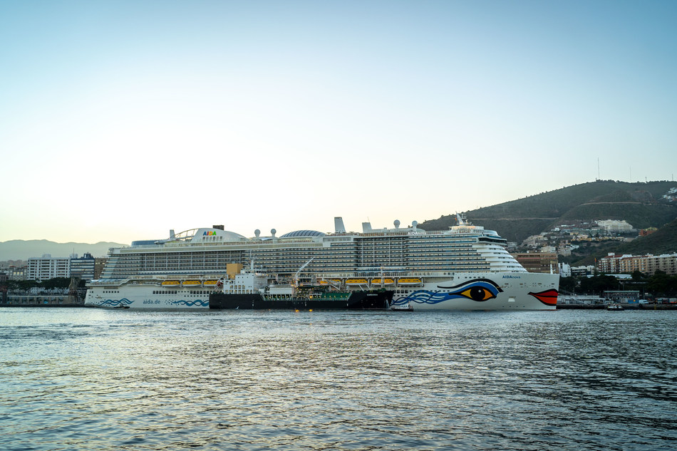 Carnival Corporation and its AIDA Cruises brand celebrated the start of its operation of the Santa Cruz de Tenerife Cruise Terminal in the Canary Islands with the maiden call of AIDAnova, the world's first cruise vessel to be powered at sea and in port by liquefied natural gas (LNG), the world's cleanest burning fossil fuel.