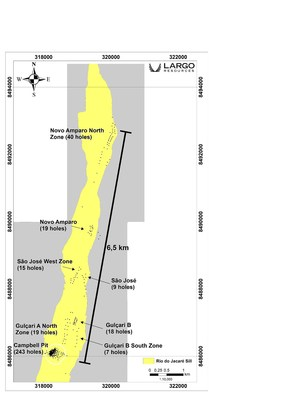 Figure 1:  Simplified Geology Map of the Maracás Project, with Exploration Targets (CNW Group/Largo Resources Ltd.)