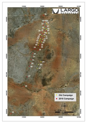Figure 2:  NAN Target Drill Hole Location Map (CNW Group/Largo Resources Ltd.)