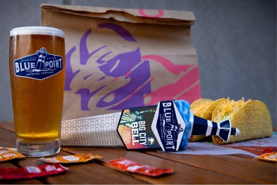 Taco Bell will officially be opening three of its famous Cantina restaurants in Manhattan at 840 8th Avenue, 224 7th Avenue, and 500 8th Avenue by the end of 2018. The brand has also partnered with New York's Blue Point Brewing Company for the launch of Big City Bell Pilsner, which will be available in all three locations in the coming months.