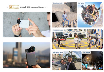 FusionLens - The most versatile lens for smartphone (PRNewsfoto/FusionLens)