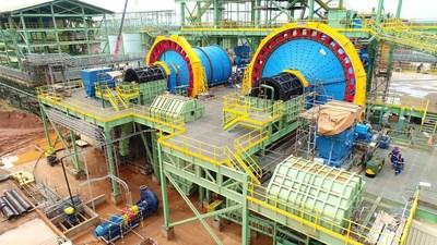 SAG and ball mills (CNW Group/Equinox Gold Corp.)