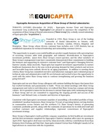 Shaw Group - Press Release (CNW Group/Equicapita Income Trust)