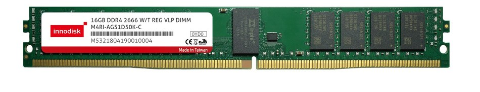 Innodisk is launching their newest high-performance, wide-temperature RDIMM VLP that is optimized for server use, especially in tough conditions