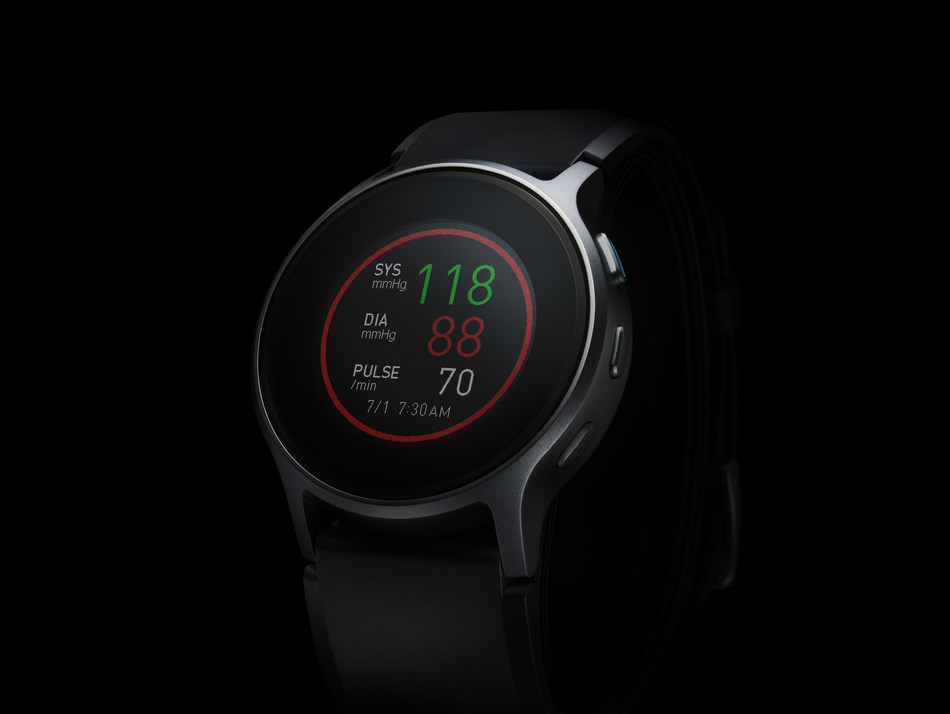 The first wearable blood pressure monitor, HeartGuide, comes in the form of a wrist watch and is an FDA-reviewed medical device.
