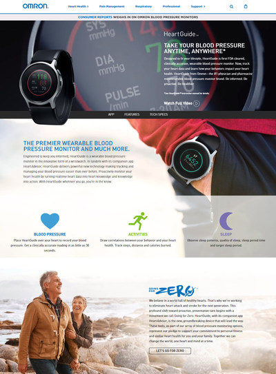 Omron Healthcare, the number one doctor and pharmacist recommended blood pressure monitor brand, will open pre-orders for its new HeartGuide™, the first wearable blood pressure monitor, on December 20th at 12:00pm EST in the United States on OmronHealthcare.com.