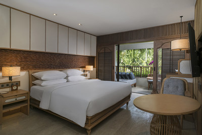 All 363 rooms are designed in modern Balinese style with a dash of Japanese influence