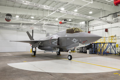 A U.S. Marine Corps F-35B for Marine Corps Air Station, Beaufort, South Carolina, sits at Lockheed Martin in Fort Worth, Texas, as the 91st F-35 to be delivered in 2018.