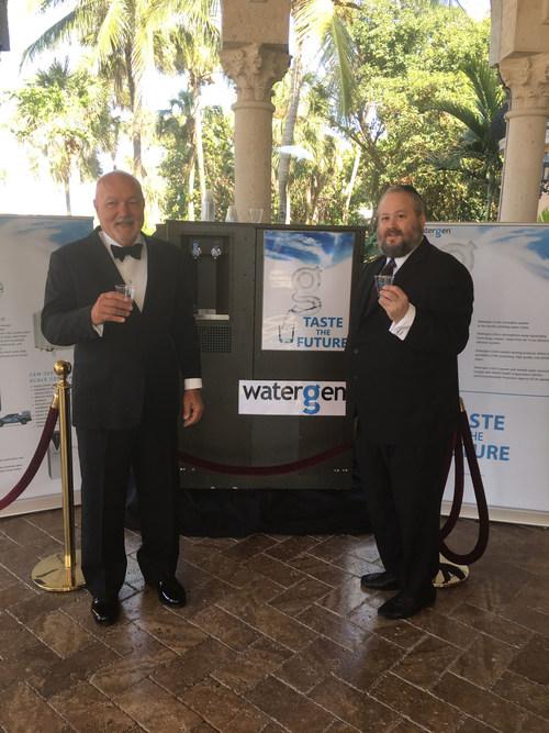 Ed Russo and Yehuda Kaploun with the Watergen Unit