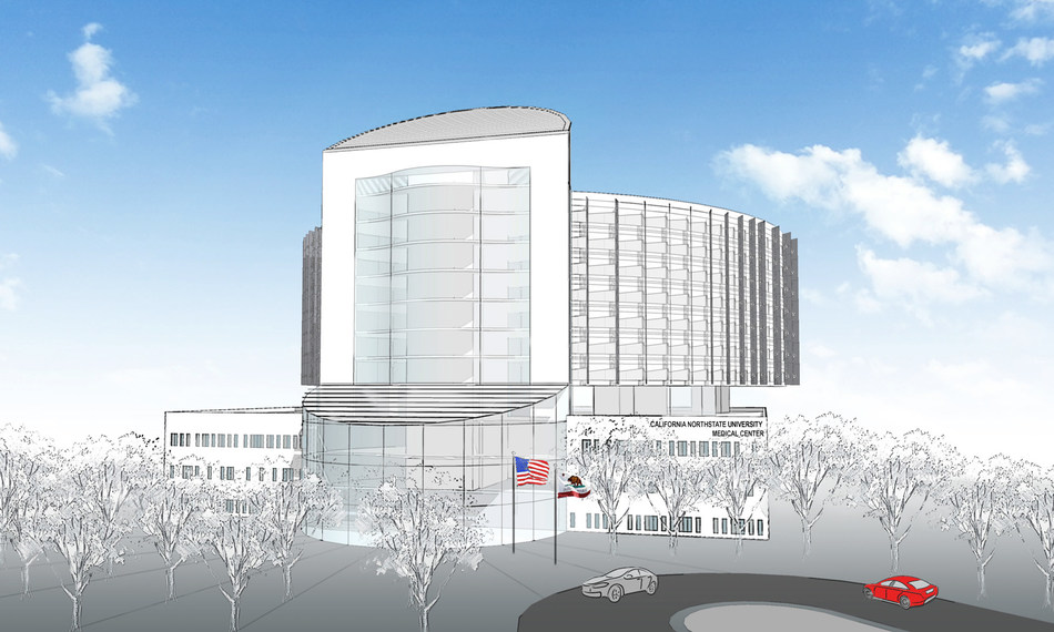 CNU Medical Center Rendering, front view.