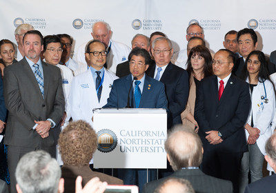CNU CEO & President Dr. Alvin Cheung announces plans to build a new medical center in Elk Grove, CA.