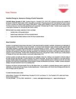 Vermilion Energy Inc. Announces Closing of Corrib Transaction (CNW Group/Vermilion Energy Inc.)