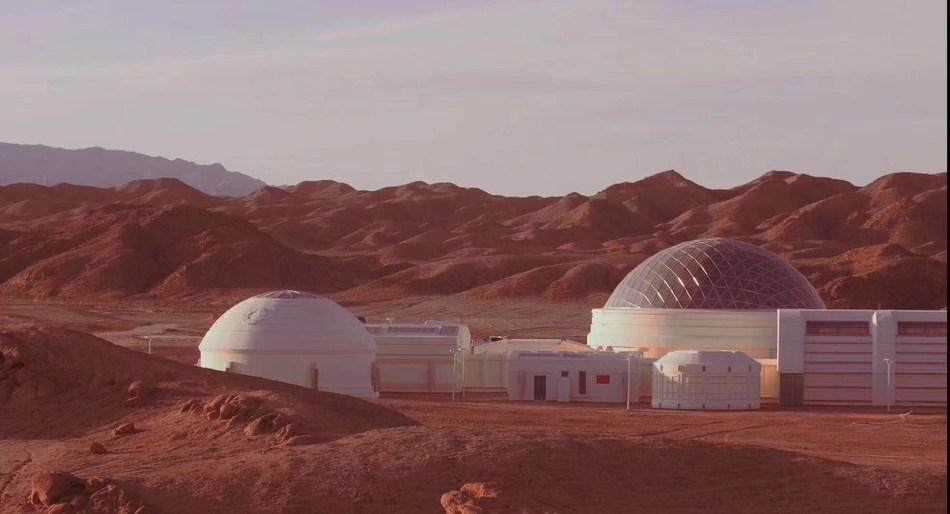 Base Mars, Jinchang, province du Gansu (PRNewsfoto/C Space)