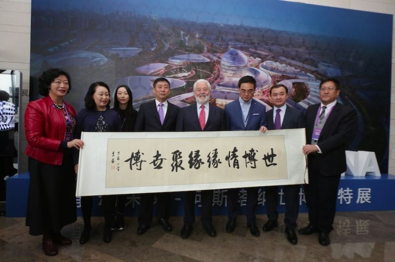 Opening Ceremony of «Astana EXPO-2017» Exhibition Held at the World EXPO Museum in Shanghai (PRNewsFoto/Astana EXPO-2017)
