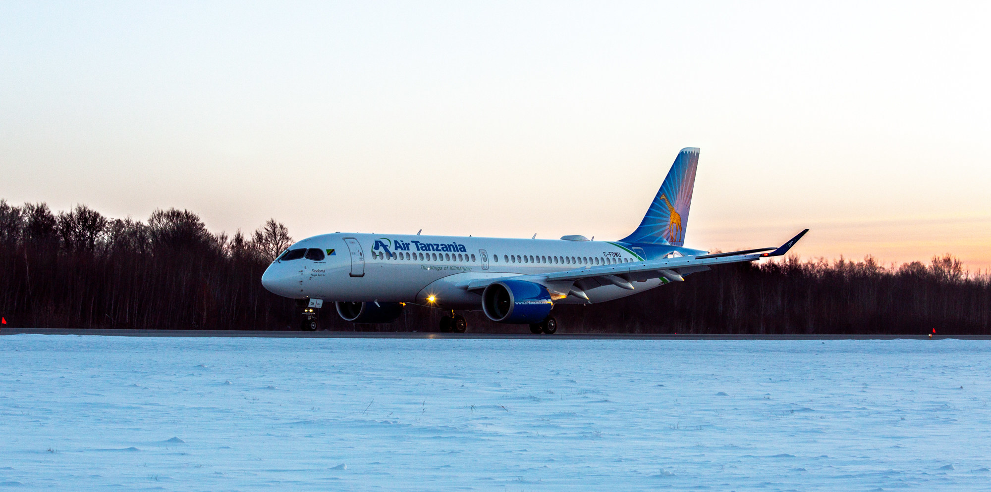 Pratt & Whitney and Air Tanzania celebrated delivery of the airline's first A220 aircraft powered by Pratt & Whitney GTF™ engines.
